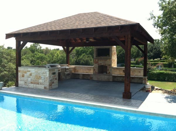 triyae com backyard designs pool outdoor kitchen