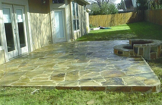 patio, Maintaining Your Patio: Concrete and Flagstone