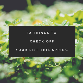 outdoor spring maintenance, Outdoor Spring Maintenance Checklist