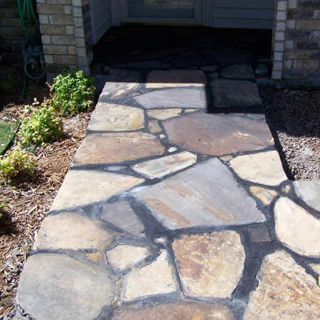 stone patios and pathways