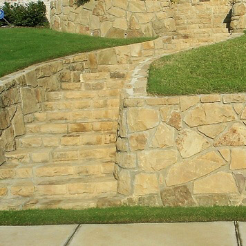 stone steps and edging